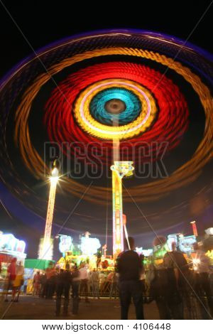 Abstract Carousel At Night