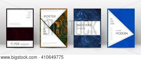 Abstract Cover. Unique Design Template. Suminagashi Marble Stylish Poster. Unique Trendy Abstract Co