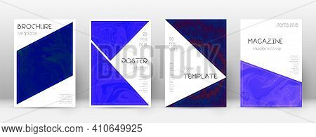 Abstract Cover. Rare Design Template. Suminagashi Marble Triangle Poster. Rare Trendy Abstract Cover