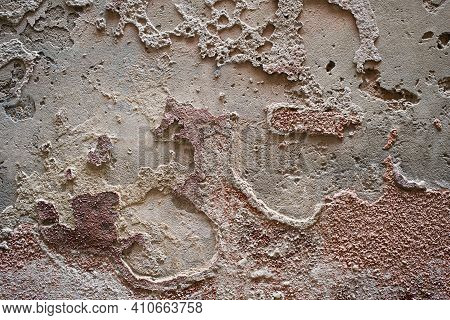 Grunge Background With Old Stucco Wall Texture Of Colorful Colors