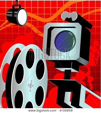 Film Reel With Light