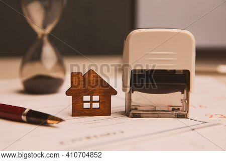 Businessman Hands Signing Documents File Paperwork Financial Or Property Mortgage Real Estate Invest