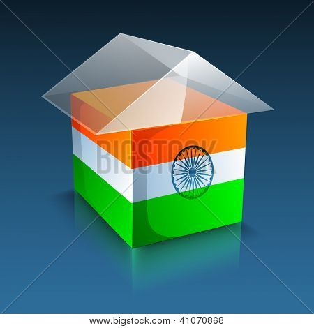 Indian flag color creative  background. EPS 10.