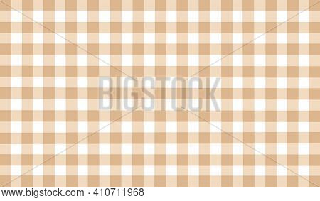 Beige White Brown Vintage Checkered Background. Space For Graphic Design. Checkered Texture. Classic