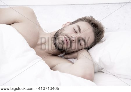Enough Amount Sleep Every Night. Health Care Concept. Circadian Rhythm Regulates Sleep Wake Cycle. M