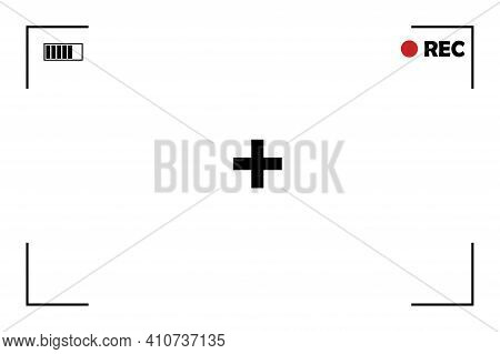 Retro Picture With Screen Camera.  Overlay Effect. Vector Illustration. Photo Frame. Stock Image. Ep