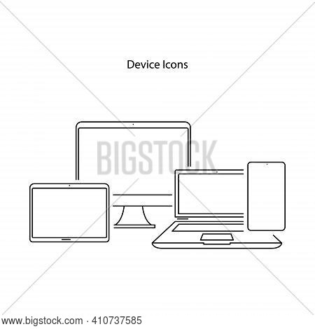 Devices Icon Isolated On White Background. Devices Icon Trendy And Modern Devices Symbol For Logo, W