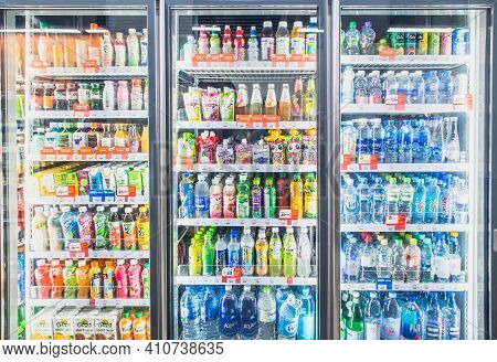 Hanoi,vietnam - March 1,2021 -variety Of Soft Drinks,energy Drinks,sport Drinks,drinking Water And F