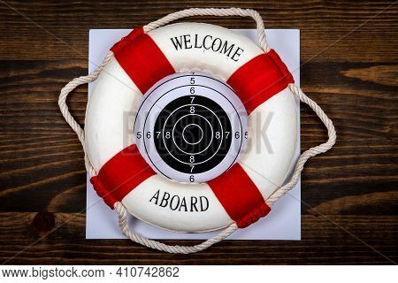 Welcome Aboard. Career, Goals And Development Concept. Abstract Business Background