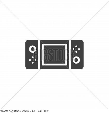 Handheld Video Game Console Vector Icon. Filled Flat Sign For Mobile Concept And Web Design. Handhel
