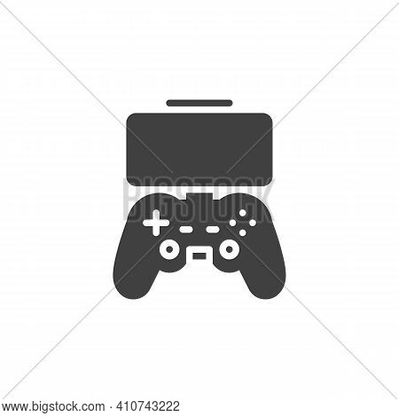 Mobile Gaming Controller Vector Icon. Filled Flat Sign For Mobile Concept And Web Design. Game Pad W
