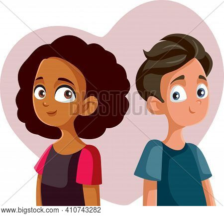 Adolescent Boyfriend And Girlfriend Falling In Love For The First Time
