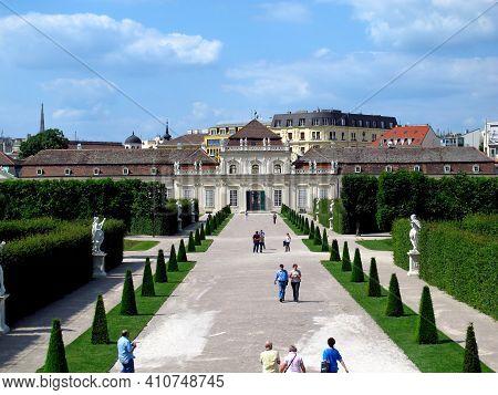 Vienna, Austria - 10 Jun 2011: Belvedere Palace In Vienna, Austria