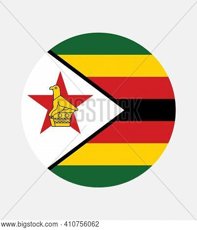 National Zimbabwe Flag, Official Colors And Proportion Correctly. National Zimbabwe Flag.