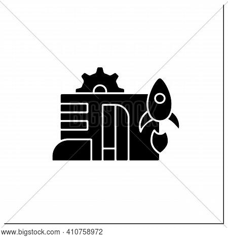 Startup Company Glyph Icon. Launch Of New Business Plan. Smart Technology Concept.business Idea Deve