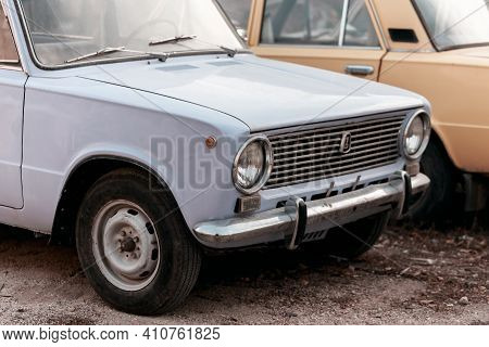 Saratov, Russia - 10.24.2020: Old Soviet Vintage Retro Car Lada Zhiguli Russian Vaz-2101 Kopeck Made