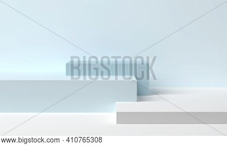 Stage For Product In Podium Platform. 3d Rendering