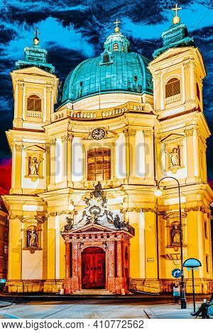 Catholic Church Of St. Peter( Katholische Kirche St. Peter),vienna.austria.