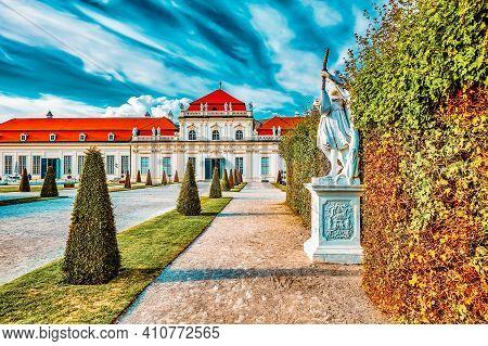 Area Of The Park-garden Complex Belvedere.vienna. Austria.