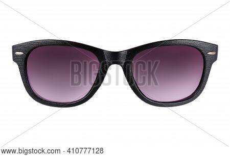 Sunglasses With Clear Glasses Isolated On White Background