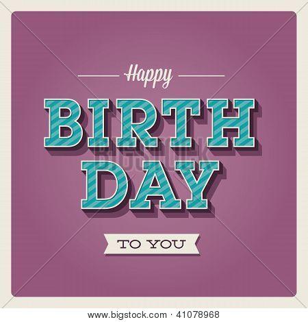 Happy birthday card, font type