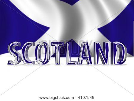 3D Shiny Scotland Text