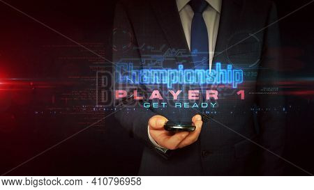 Championship Sport Game Abstract Concept 3D Illustration