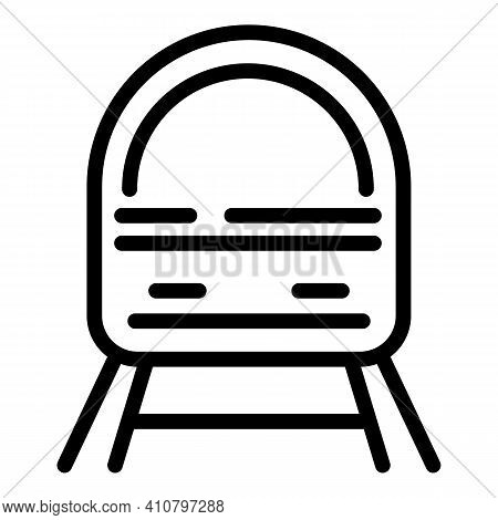 Bullet Train Icon. Outline Bullet Train Vector Icon For Web Design Isolated On White Background