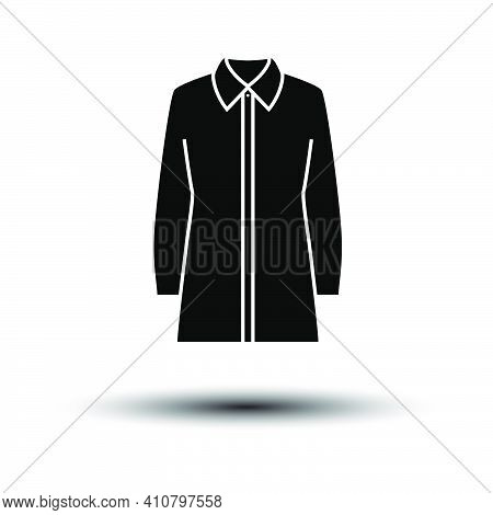 Business Blouse Icon. Black On White Background With Shadow. Vector Illustration.