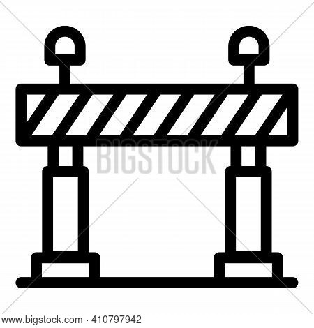 Safety Railroad Barrier Icon. Outline Safety Railroad Barrier Vector Icon For Web Design Isolated On