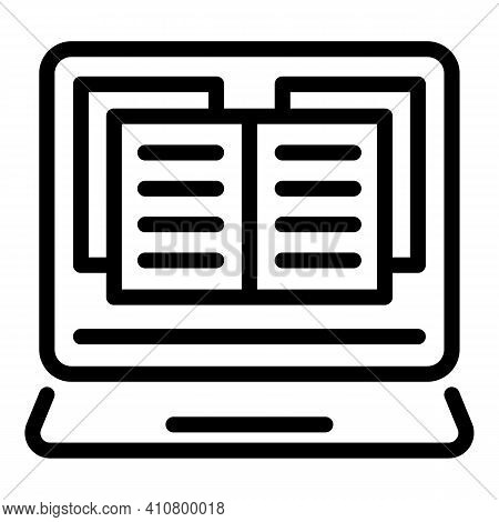 Electronic Catalog Icon. Outline Electronic Catalog Vector Icon For Web Design Isolated On White Bac