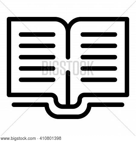 Electronic Open Catalog Icon. Outline Electronic Open Catalog Vector Icon For Web Design Isolated On