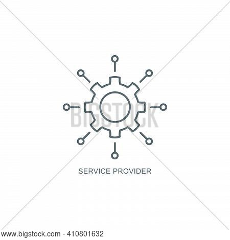 Service Provider Icon, Color, Line, Outline Vector Sign, Linear Style Pictogram Isolated On White. S