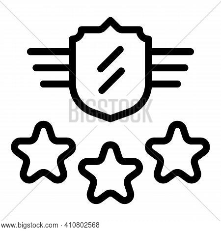 Vip Security Icon. Outline Vip Security Vector Icon For Web Design Isolated On White Background