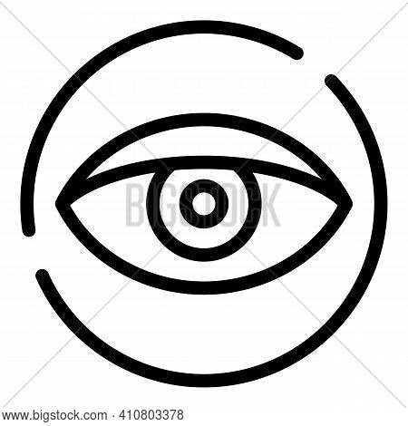 Eye Privacy Icon. Outline Eye Privacy Vector Icon For Web Design Isolated On White Background