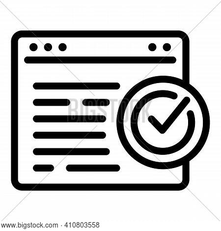Online Privacy Icon. Outline Online Privacy Vector Icon For Web Design Isolated On White Background