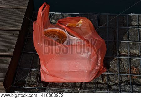 Due To Coronavirus, More Food Should Be Sold In Polystyrene Shipping Boxes And A Plastic Red Bag. Ta
