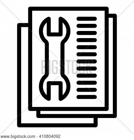 Technical Support Icon. Outline Technical Support Vector Icon For Web Design Isolated On White Backg