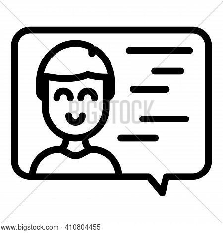 Assistance Chat Icon. Outline Assistance Chat Vector Icon For Web Design Isolated On White Backgroun