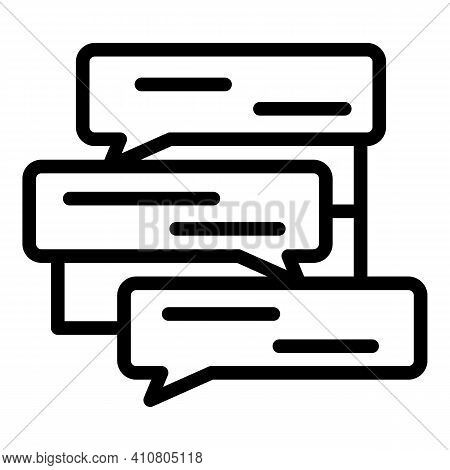 Chat Consultation Icon. Outline Chat Consultation Vector Icon For Web Design Isolated On White Backg