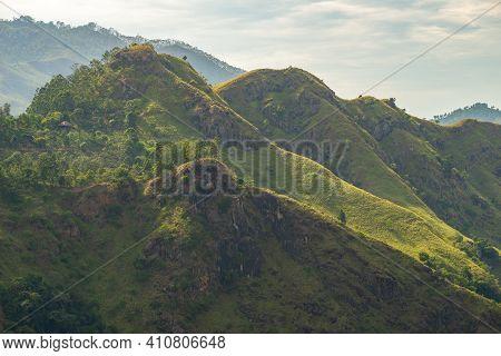 Scenery View Of Little Adam's Peak One Of Popular Tourist Attraction In Ella, Sri Lanka. It Is Named