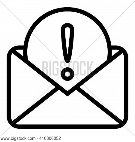 Important Letter Icon. Outline Important Letter Vector Icon For Web Design Isolated On White Backgro