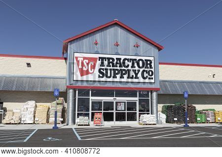 Whitestown - Circa March 2021: Tractor Supply Company Retail Location. Tractor Supply Is Listed On T