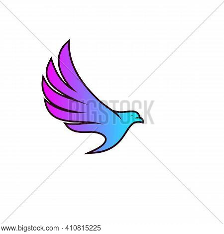 Bird Care Logo. Bird Logo. Flying Bird Logo. Modern Bird Logo Design Concept . Nature Bird Logo Illu