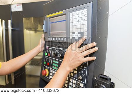 The Operator Setup The Cnc Machine Milling Machine By Press The Controller Keypad. The Cnc Machining
