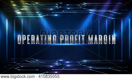Abstract Background Of Techonology Line Connection Innovation Stock Market With Operating Profit Mar