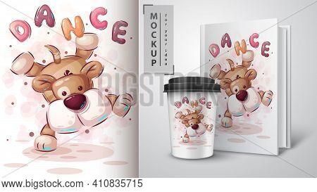 Dance Dog - Poster And Merchandising. Vector Eps 10