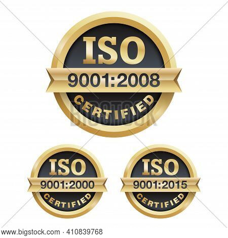 Iso 9001 Conformity To Standards Icon 2000, 2008 And 2015 Years Of Standardization - Golden Medal Aw