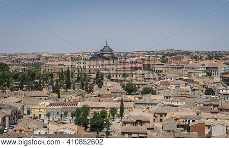 Toledo, Spain, July 2020 - Aerial View Of The City Of Toledo, Spain