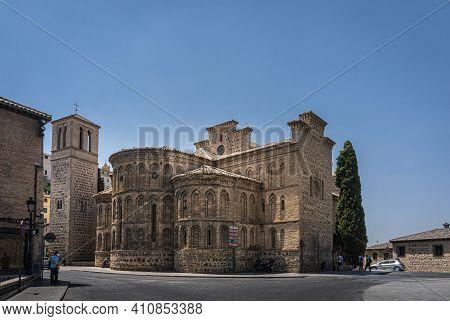 Toledo, Spain, July 2020 - Saint James The Mayor Church In The City Of Toledo, Spain